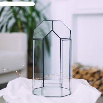 Флорариум теплица (швы серебро)