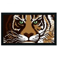 Коврик придверный, 40х68 см, format classic, 21511 тигр
