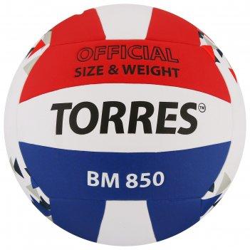 Мяч волейбольный torres bm850, размер 5, синтетическая кожа (пу), клееный,