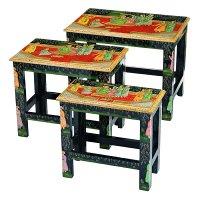 Набор из консольных столиков из 3 шт.17*33*31/24*4...код