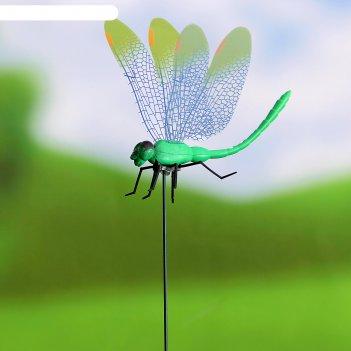 Декоративный штекер стрекоза с прозрачными крылышками микс