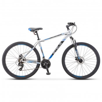 Велосипед 29 stels navigator-900 md, f010, цвет серебристый/синий размер 1