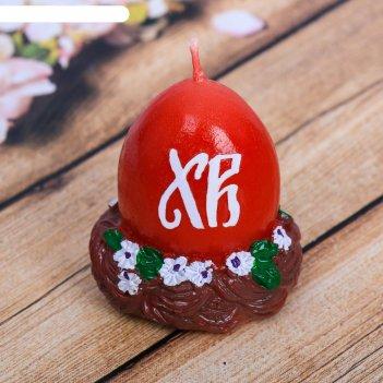 Свеча пасхальная «яйцо в гнезде»