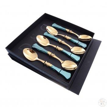 Набор десертных ложек domus ginevra gold (6 шт)