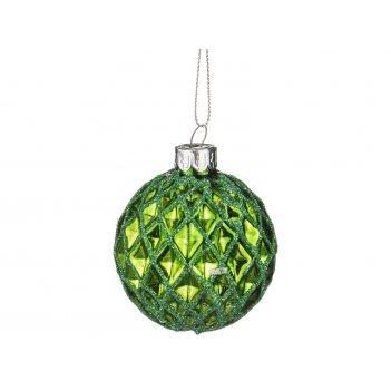 Декоративное изделие шар стеклянный диаметр=6 см. высота=7 см. цвет: салат