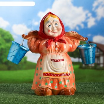Садовая фигура баба с коромыслом, микс