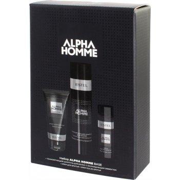 Набор ah/nb alpha homme base (шампунь для волос, крем для бритья, крем пос