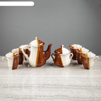 Набор чайный ажур день и ночь, 8 предметов