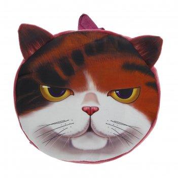 Мягкий рюкзак хитрый кот