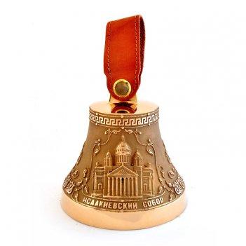 Колокольчик бронзовый с символикой санкт-петербурга