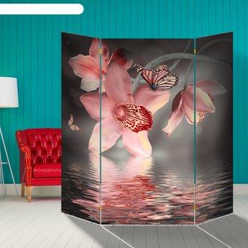 Ширма орхидея. водная гладь, 160 x 160 см