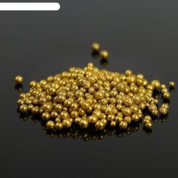 Наполнитель декоративный волшебные шарики, золотой благородный блеск, 10 г
