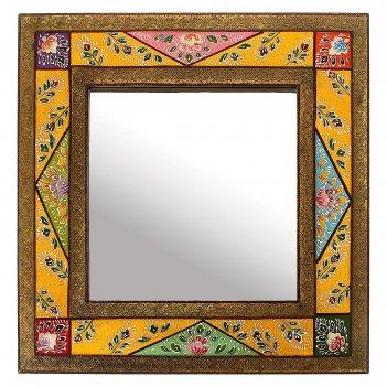 Зеркало цветные узоры
