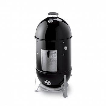 Угольный гриль - коптильня weber smokey mountain cooker, 47 см, черный для