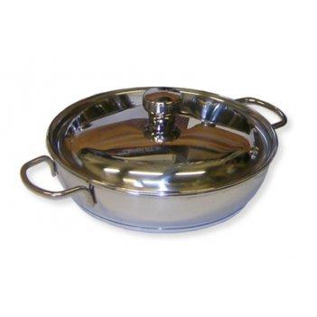 Сковорода 22см классика-прима 1,5л металлическая крышка трс-3 тм амет