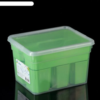 Контейнер для хранения 5 л basic, 6 вставок, лоток, цвет микс