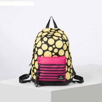 Рюкзак школьный kite 910 40*29.5*15 дев сity, чёрный/жёлтый k20-910m-4