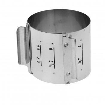 Кондитерское кольцо «барокко» с регулируемым объемом 6-8,5 см