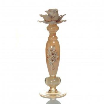 Канделябр янтарь, на одну свечу