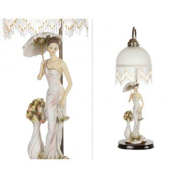 Светильник дама с зонтиком высота=70 см.