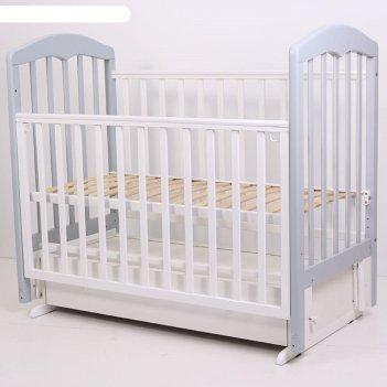 Кровать детская «сильвия-7» , 120х60 см, универсальный маятник, ящик, цвет