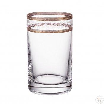 Набор стаканов для воды crystalex bohemia золотой лист v-d 150 мл(6 шт)