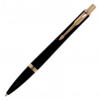 Ручка шариковая parker urban core muted black gt m, стержень синий, узел 0