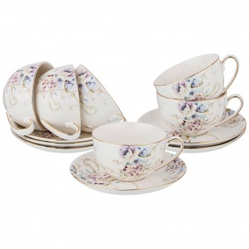 Чайный набор завтрак у короля на 6пер. 12пр. 280мл (кор=8наб.)