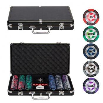 Набор для покера black stars на 300 фишек