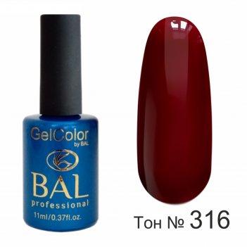 Гель-лак каучуковый bal gelcolor №316,, 11 мл