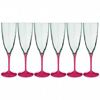 Набор бокалов для шампанского из 6 шт.  kate optic 220 мл. высота=23 см (к