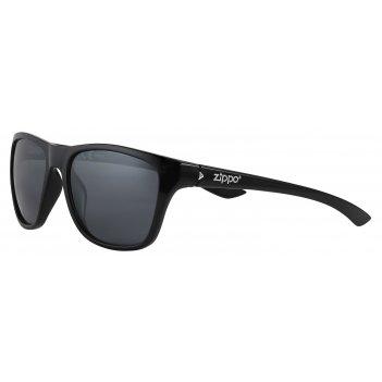 Очки солнцезащитные zippo, унисекс, чёрные, оправа, линзы и дужки из полик