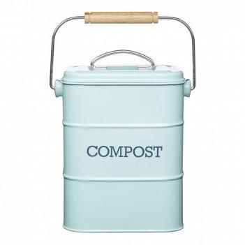 Kitchen craft бак для мусора living nostalgia blue