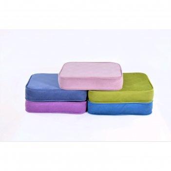 Подушка-пуф передвижной «моби», размер 50 x 50 см, розовый, велюр