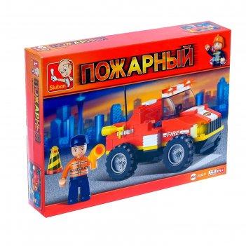 Конструктор пожарные спасатели грузовик, 118 деталей