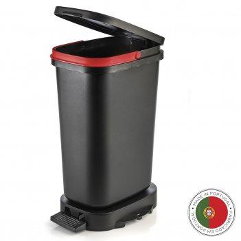 Мусорный бак с педалью be-eco 20л, черный-красный