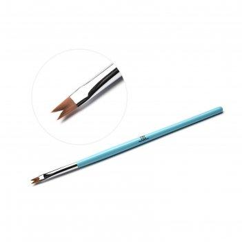 Кисть для дизайна ногтей tnl фигурная «ласточкин хвост», голубая