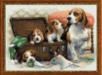 """Набор для вышивания """"собачье семейство"""""""