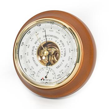 Барометр термометр утес круглый (17,6х5 см) btk-sn-17