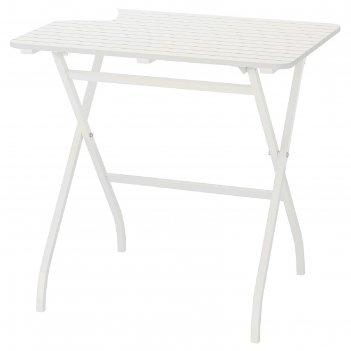 Садовый стол мэларо, цвет складной белый белый