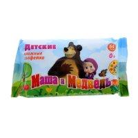 Салфетки влажные маша и медведь детские 64шт
