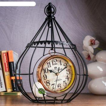 Часы настольные альманса, 36х24х13 см, плавный ход