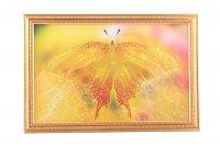 Картина бабочка желтая, стразы, 55х35см