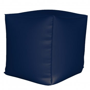 Пуфик куб мини, ткань нейлон, цвет темно синий