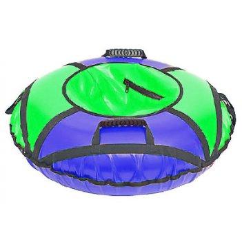 Сноутюбинг: надувные ватрушки 95см сине-зеленый