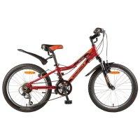 Велосипед 20 novatrack action, 2017, 12ск., цвет красный
