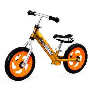 Легкий алюминиевый детский беговел small rider foot racer 3 eva (золотой)