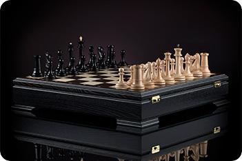 Шахматы стаунтон ампир kadun 46х46см