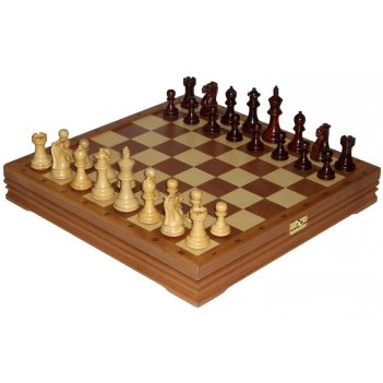 Шахматы классические средние деревянные утяжеленные (высота короля 3,25)