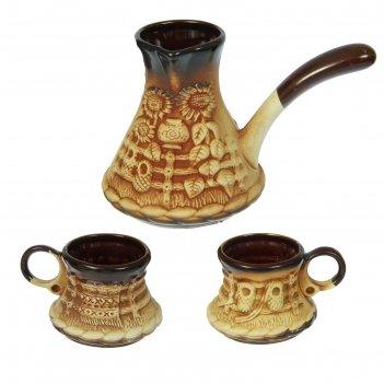 Набор кофейный турка 0,5 л и 2 чашки 0,15 л